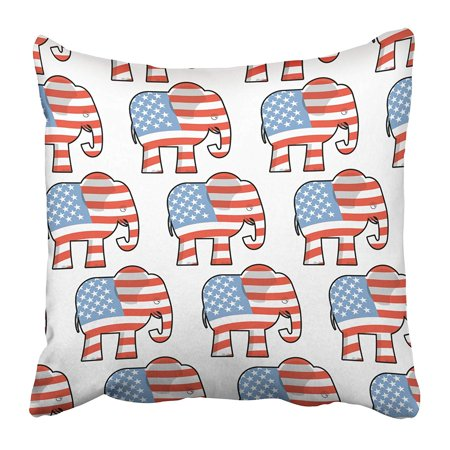 Classic Republican Elephant - ECCOT Republican Elephant Symbol of Political Party in America for Election and Debate USA Pillowcase Pillow Cover 16x16 inch