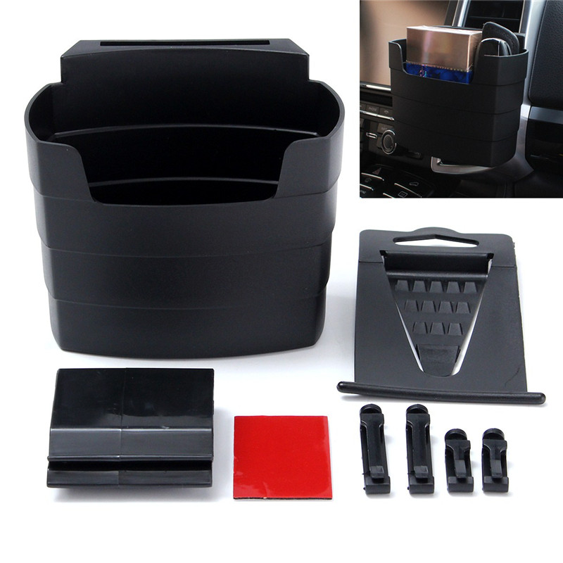 Car French Fry Holder Drink Cup Stand Phone Glasses Storage Box Plastic