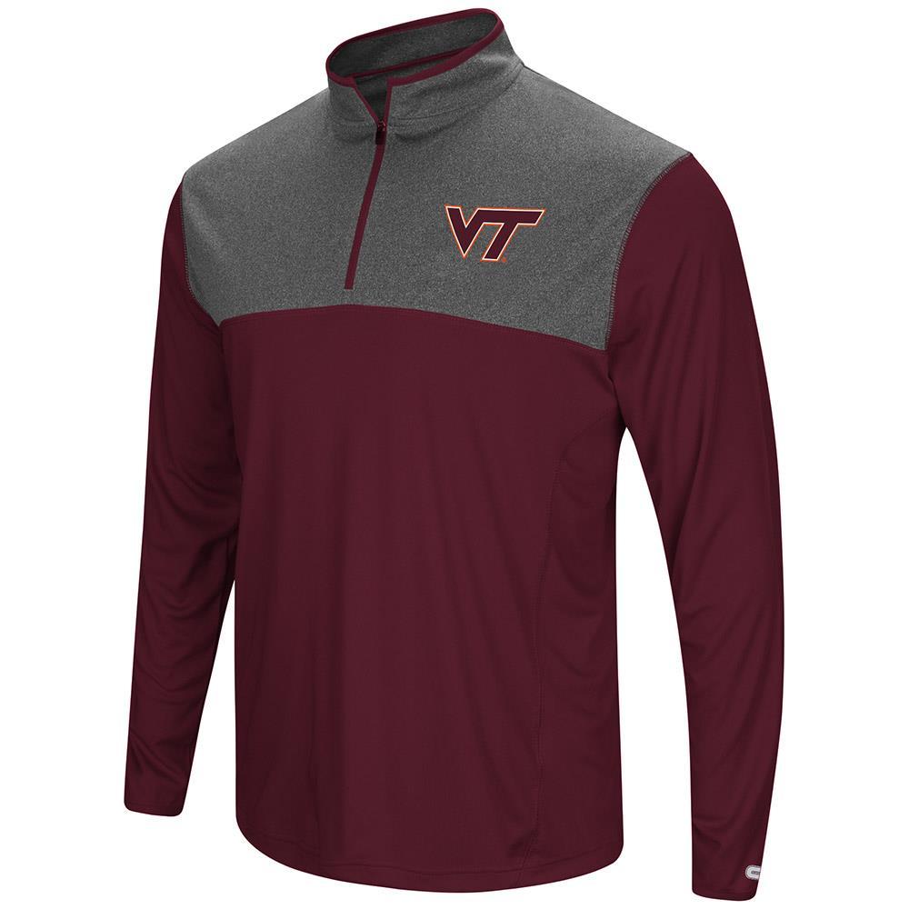 Mens Virginia Tech Hokies Quarter Zip Wind Shirt - S