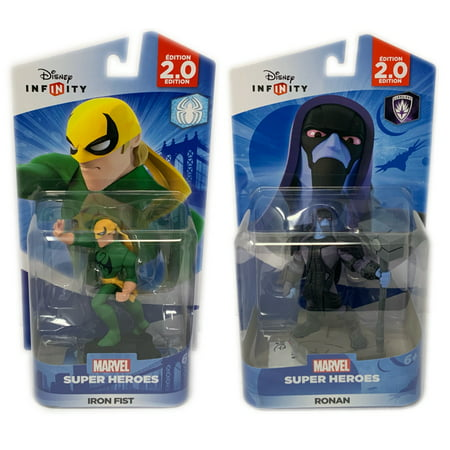Disney Infinity IronFist & Ronan Figures 2.0 Series Guardians Of The Galaxy & Spiderman Series (Not Machine