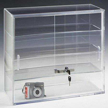 - Displays2go 22 by 16-Inch Countertop Display Case with 3 Shelves