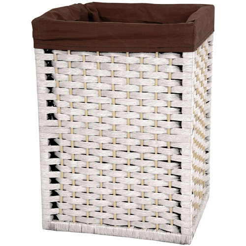 Oriental Furniture 17'' Natural Fiber Basket in White