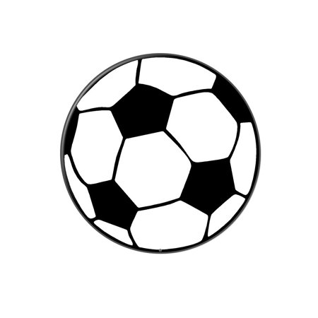 Soccer Ball Lapel Hat Pin Tie Tack Large Round ()