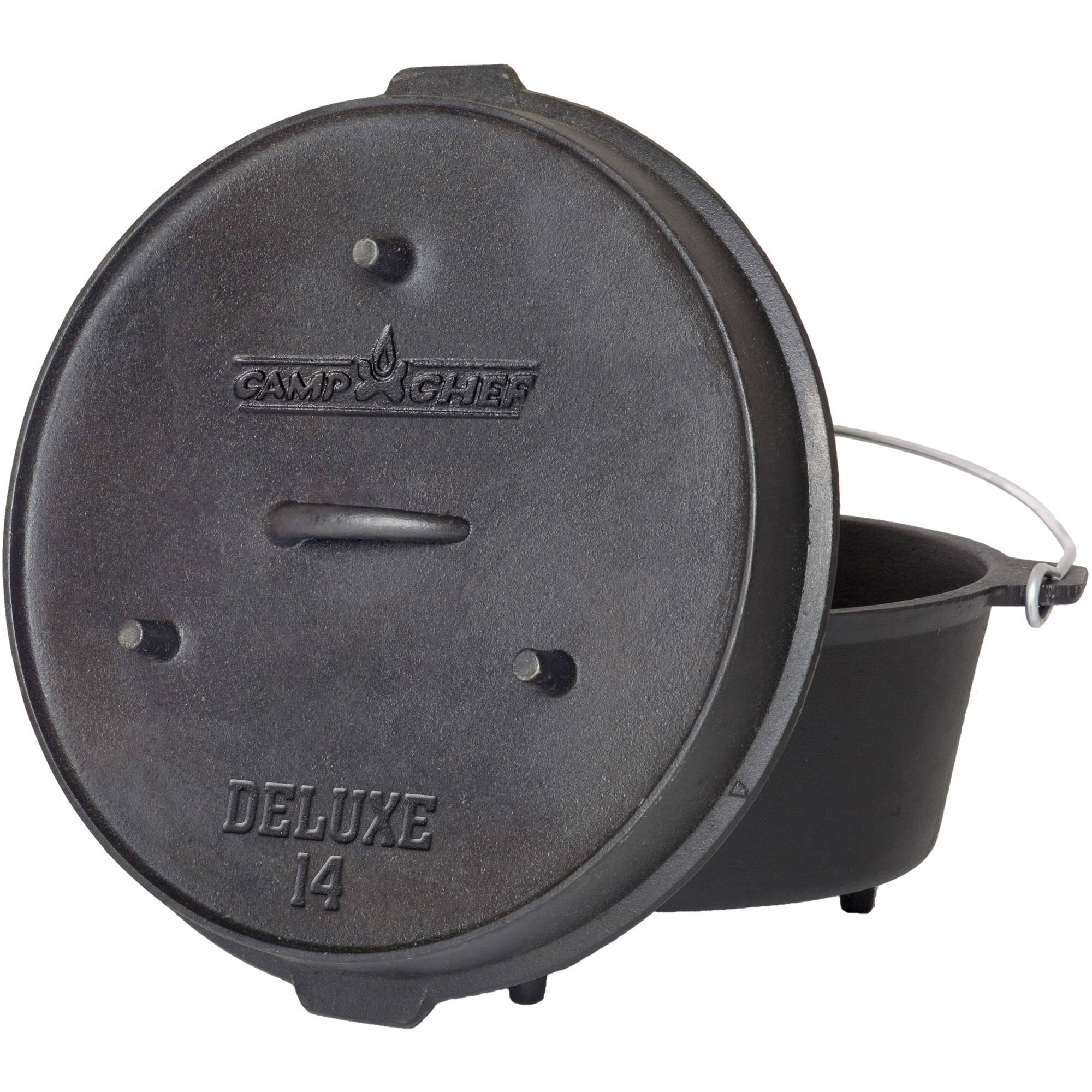 Camp Chef Pre-Seasoned 12-Quart Cast Iron Dutch Oven by Camp Chef
