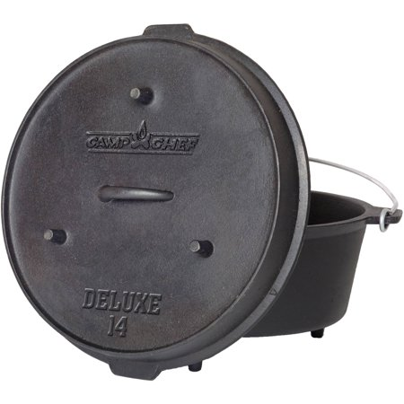 Camp Chef Pre-Seasoned 12-Quart Cast Iron Dutch Oven