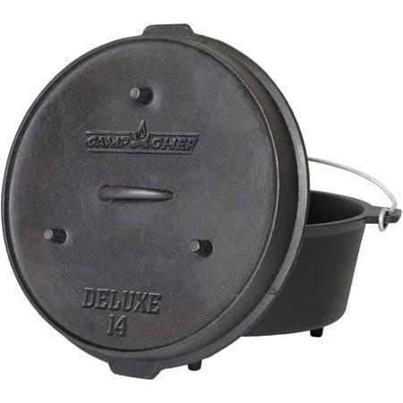 Camp Chef Pre-Seasoned 12-Quart Cast Iron Dutch Oven