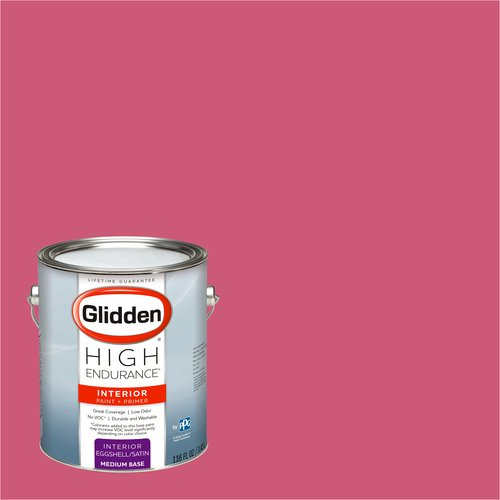 Glidden High Endurance, Interior Paint and Primer, Kissable Pink, #62RR 21/444