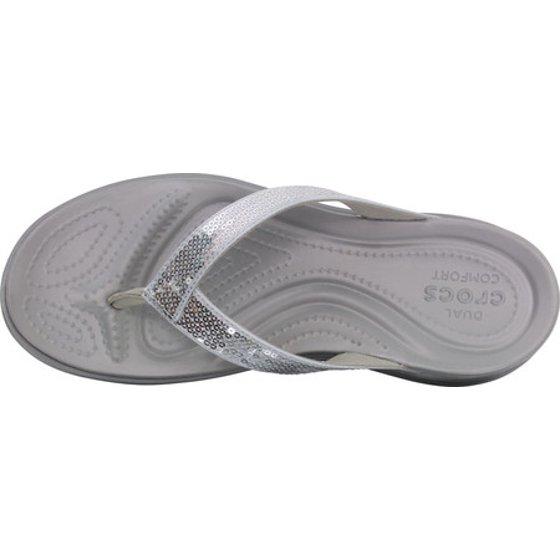 064b76aa1e2599 Crocs - Women s Crocs Capri V Sequin Thong Sandal - Walmart.com