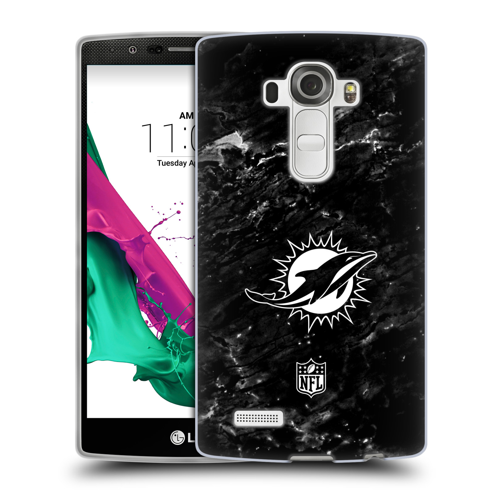 OFFICIAL NFL 2017/18 MIAMI DOLPHINS SOFT GEL CASE FOR LG PHONES 1