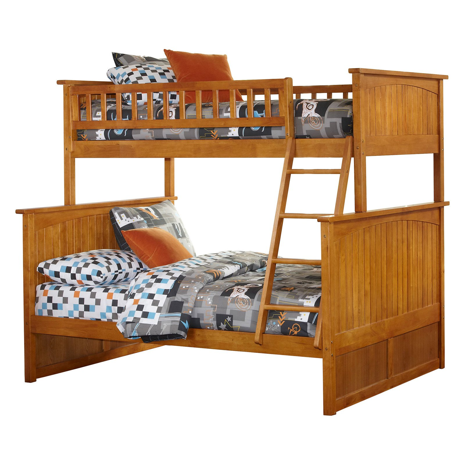 80.5 in. Twin Over Full Bunk Bed with Raised Panel Trundle