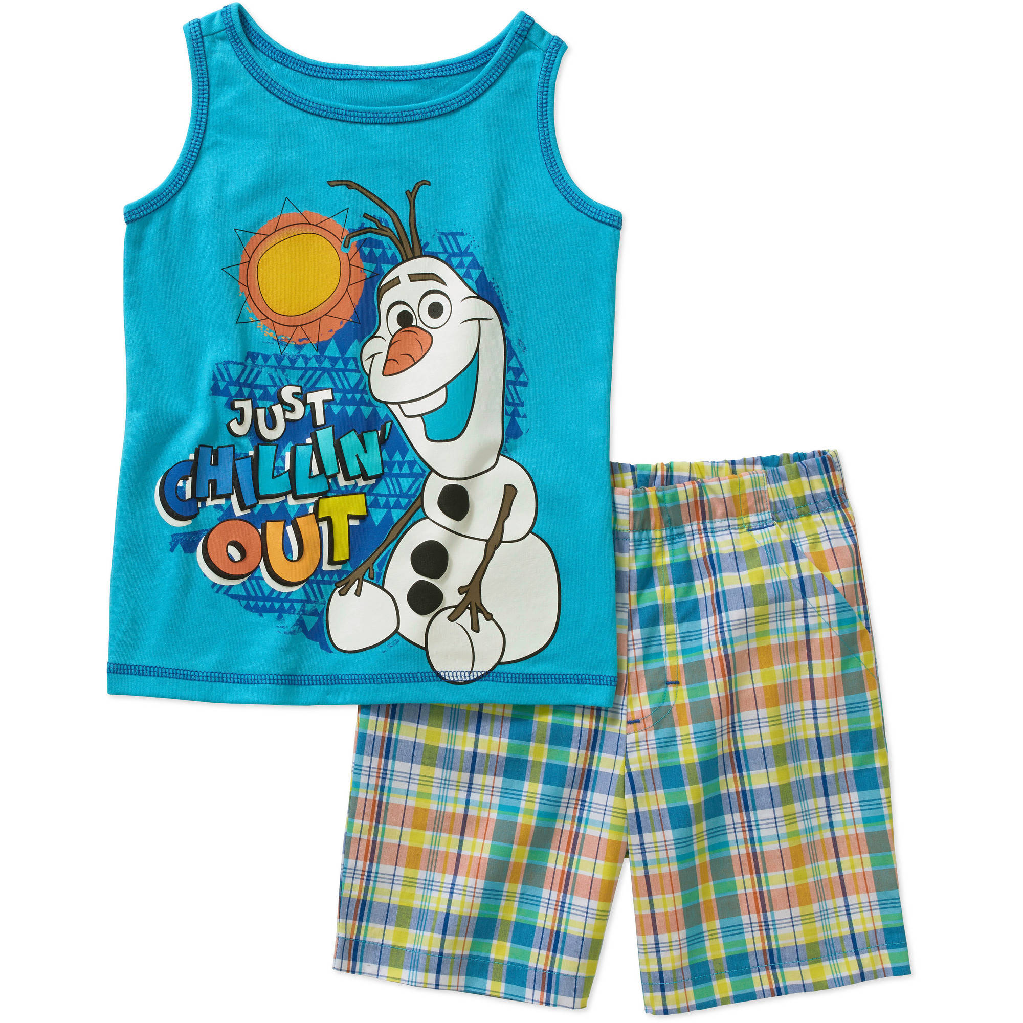 Frozen Baby Toddler Boy Tank and Shorts Outfit Set