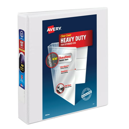 Avery Heavy Duty View Binder, One Touch EZD Ring, White, 400 Sheets