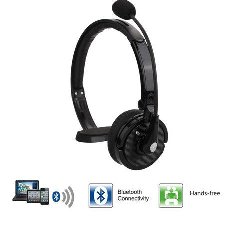 0bf333e9190 Truck Driver Noise Cancelling Wireless Headphones Over The Head Bluetooth  Boom Mic - Walmart.com