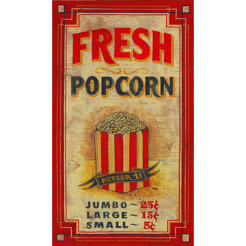 Vintage Signs Popcorn Vintage Advertisement Plaque