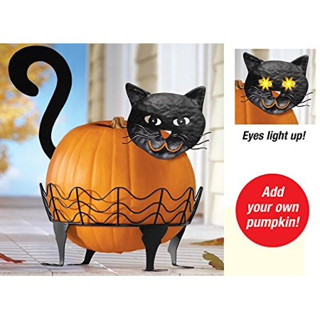 Black Cat Pumpkin Holder - 3 Pc - Black Cat Halloween Clip Art