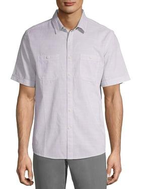 George Men's and Big Men's Short Sleeve Textured Woven Shirt