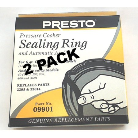 2 Pk, Presto Pressure Cooker Sealing Ring Gasket For 6 Qt,