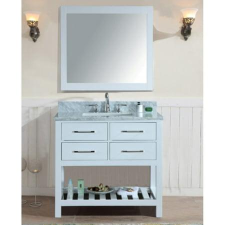 Ari Kitchen And Bath Manhattan 36 In Single Bathroom Vanity Set With Mirror