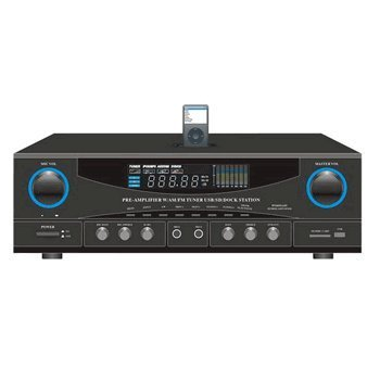 Pyle Stereo Receiver AM-FM Tuner 500W Peak by