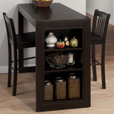 Bundle-36 Jofran Maryland Merlot Pub Table Set (5 Pieces)