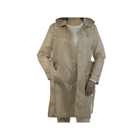 - Sporto Women's Lightweight Packable Rain Jacket Khaki Large