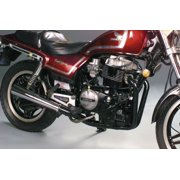 Mac 2-Into-1 Megaphone Exhaust Black Header/Chrome Muffler Fits 78-79 Yamaha XS400-2