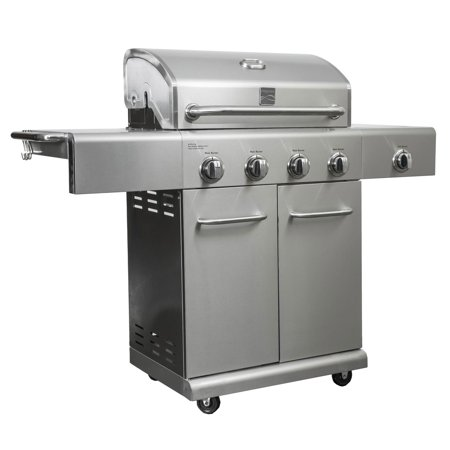 Kenmore 4 Burner 53000 BTU Stainless BBQ Propane Grill w/ Searing Side Burner