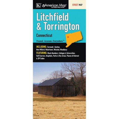 Universal Map Litchfield County/Trinitron Connecticut Fold Map