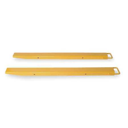 2KFG9 Fork Extensions, Yellow, 4 x 96 In, Pk2 by VALUE BRAND