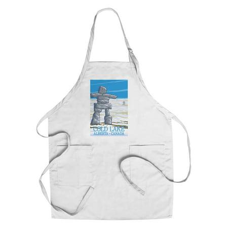 Cold Lake, Canada - Inukshuk - Lantern Press Original Poster (Cotton/Polyester Chef's Apron) - Walmart.com
