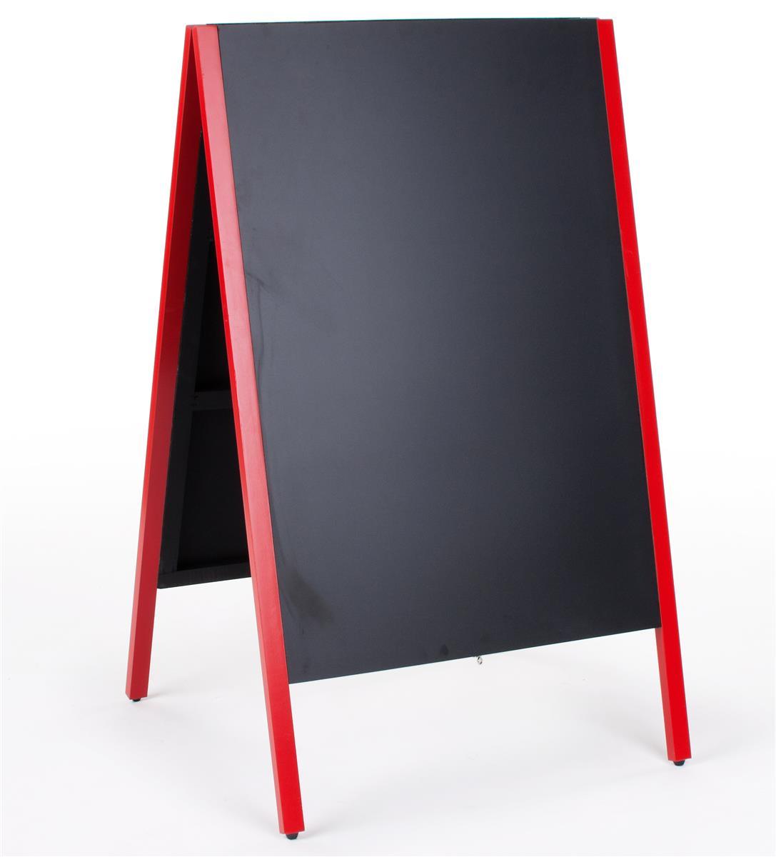 Displays2go 24 x 36 Chalkboard Sidewalk Sign, Double-Sided, Wooden A-Frame