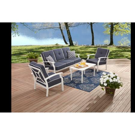 Better Homes And Garden Carter Hills Outdoor Conversation Set Seats 5 White Blue Box 2