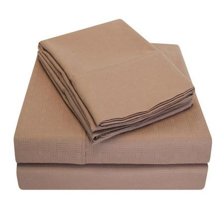 Simple Luxury Embossed Egyptian Cotton Microfiber Sheet Set