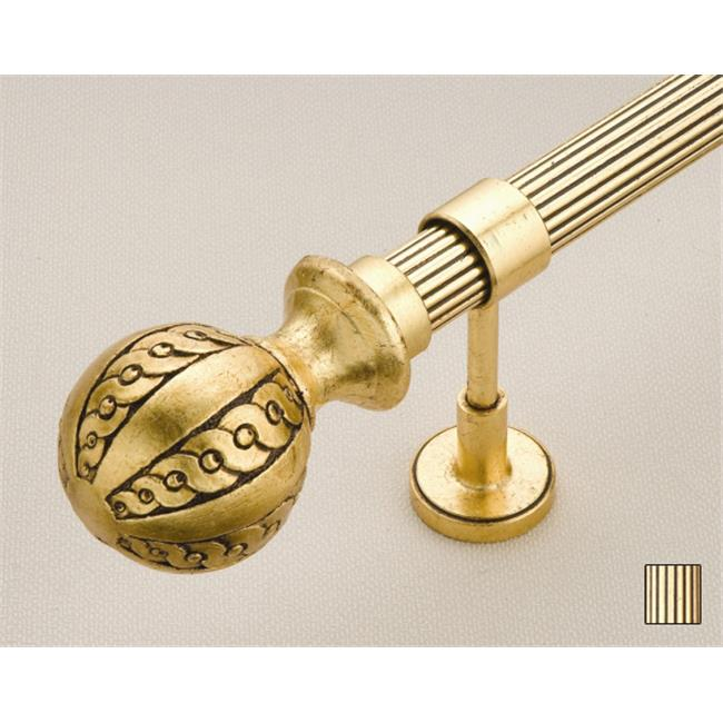 WinarT USA 8. 1082. 30. 06. 400 Palas 1082 Curtain Rod Set - 1. 25 inch - Gold Leaf - 157 inch