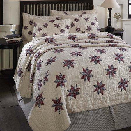 Cotton White Tan Americana Bedding Lincoln Cotton Pre