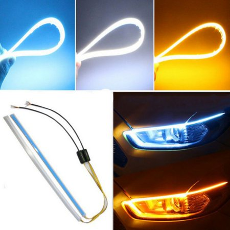 Car LED Headlight Slim Strip Light Ultra-thin IP68 Waterproof Daytime Running Sequential Flow Turn Signal (Sequential Switching)