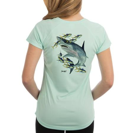 efefb9a8 Kevin Brant Collection - Mako Shark Women's UPF 50+ UV/Sun ...