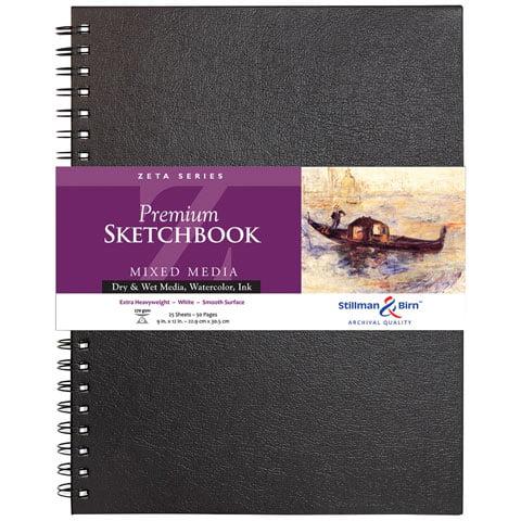 """Stillman & Birn - Zeta Series Premium Hard-Bound Sketch Book - Wire-Bound - 9"""" x 12"""""""
