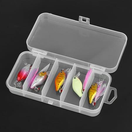 Spptty 5pcs mini leurre artificielle appâts de plumes artificielles ensemble de matériel de pêche s'attaquer avec crochet simple, appâts de plumes, faux appâts - image 1 de 8