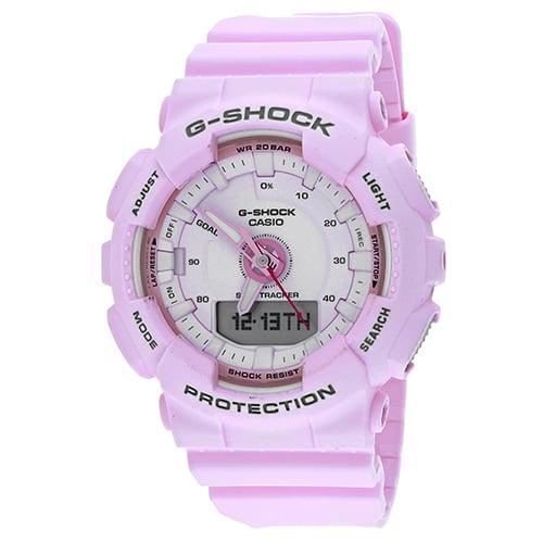 G-Shock S Series 46mm Resin Women's Sports Watch (Pink) GMAS130-4A