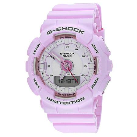 G-Shock S Series 46mm Resin Women's Sports Watch (Pink) GMAS130-4A (Alumni Series Womens Watch)