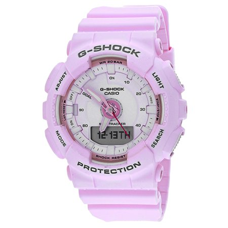 G-Shock S Series 46mm Resin Women's Sports Watch (Pink) GMAS130-4A