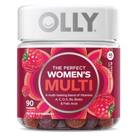 OLLY The Perfect Women's Multi, Multivitamin Gummies, Berry, 90 Ct