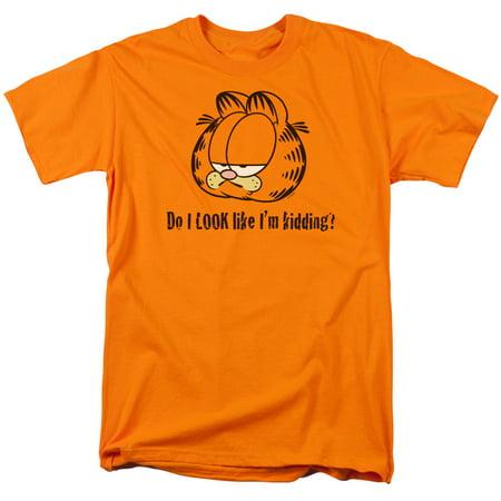 Garfield Do I Look Like I'M Kidding Newspaper Comic Adult T-Shirt Tee (Looks Like Adult T-shirt)