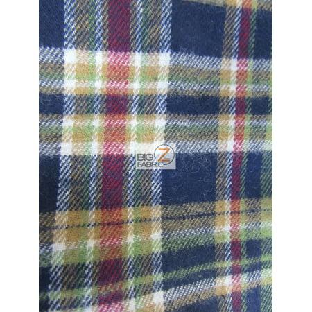 - Tartan Plaid Uniform Apparel Flannel Fabric / Multi-Color / Sold By The Yard