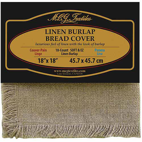 "Soft and EZ Linen Burlap Bread Cover, 18"" x 18"""