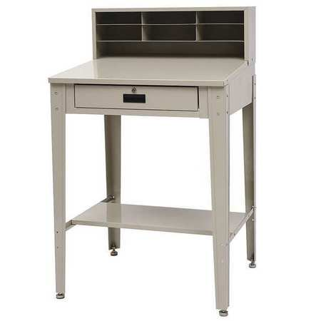 Shop Desk,34 x 55-1/2 x 30-1/4 In,Beige ZORO SELECT (Open Steel Shop Desk)
