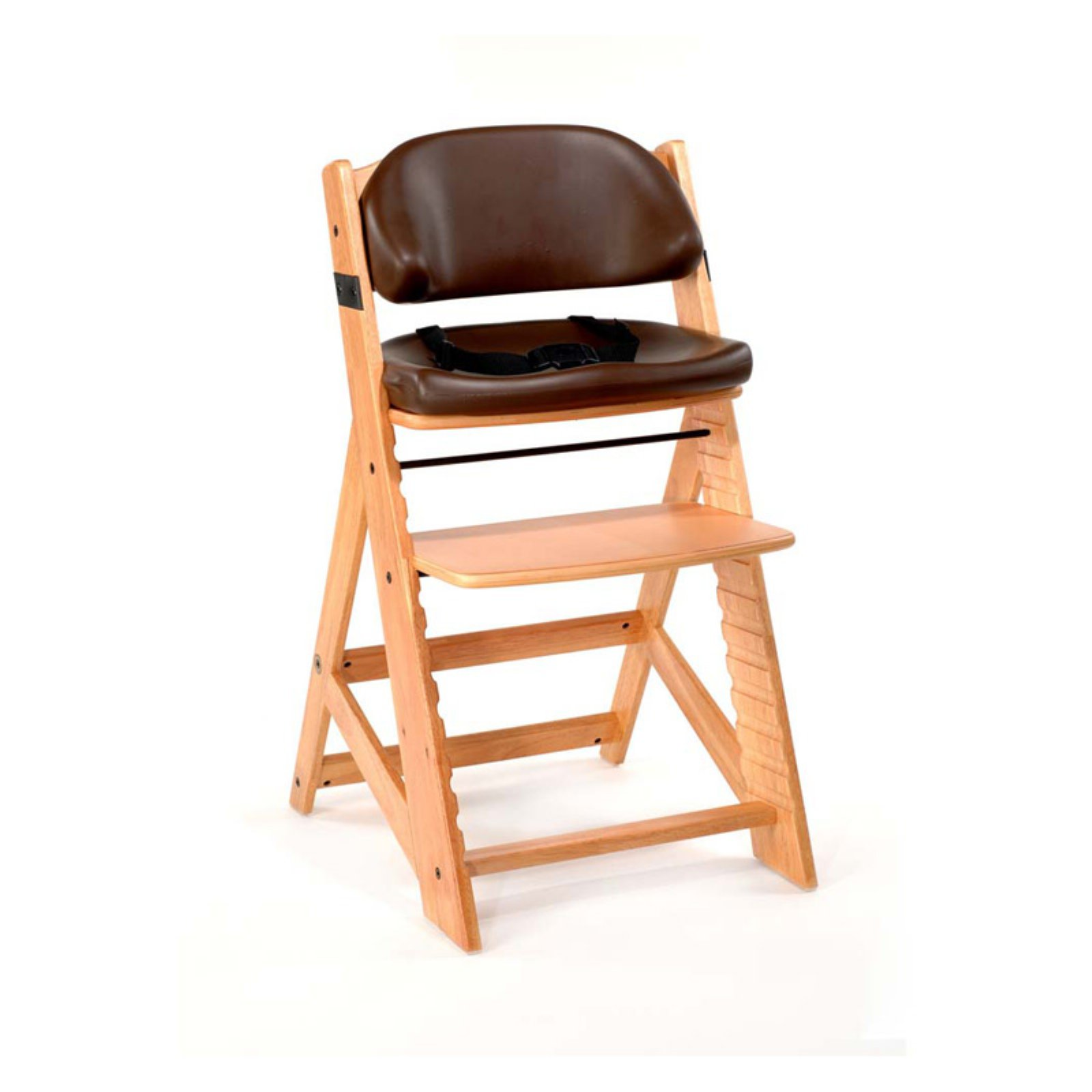 Keekaroo Height Right Kids Chair Natural with Chocolate Comfort Cushions
