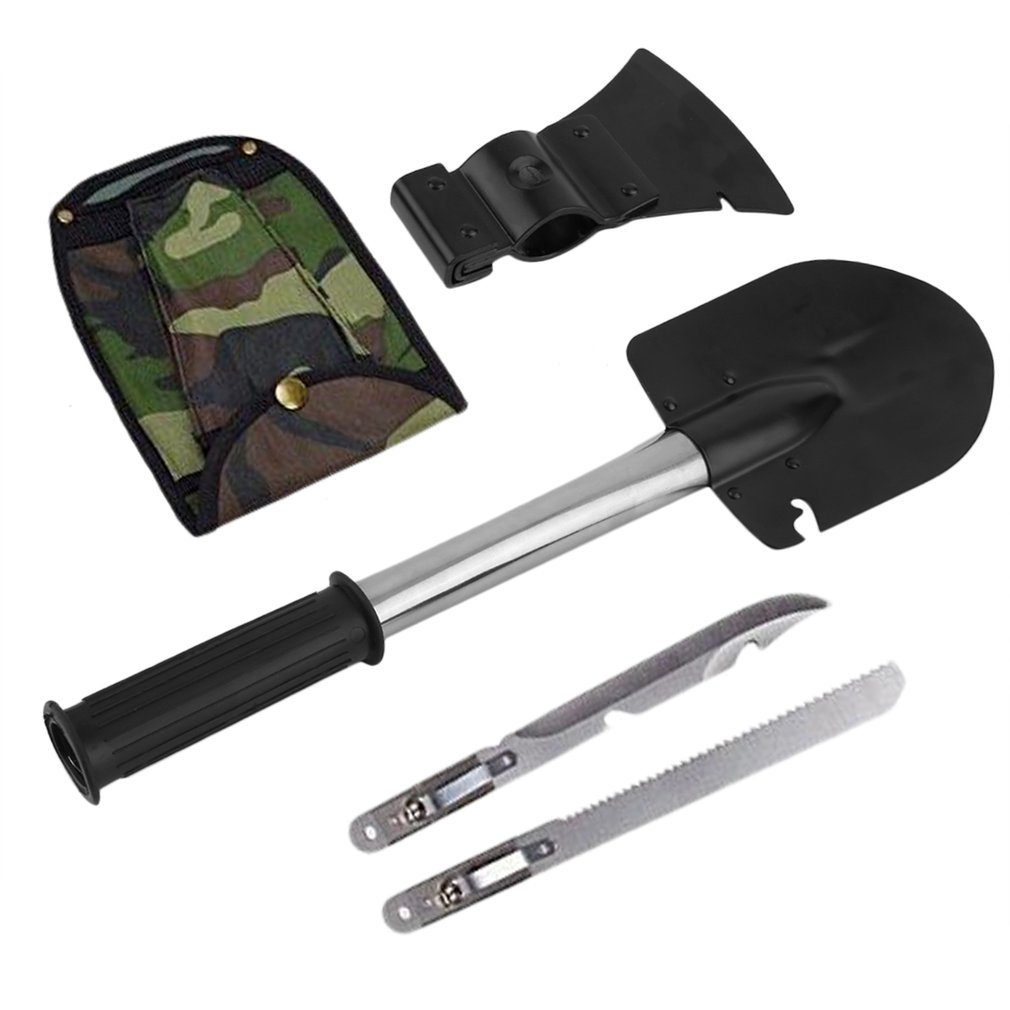 brandNew Durable Survival Emergency Camping Hiking Knife Shovel Saw Gear Kit Tools by