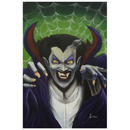 The Count by Phil Graves Scary Dracula Monster Halloween Framed Fine Art Print - Halloween Scary Monsters